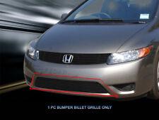 Fits 2006 2007 Honda Accord Coupe Black Billet Grille Bumper Grill Insert Fedar