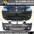 Fits 04-10 BMW E60 E61 M5 Style Front Bumper Cover Conversion Fog Cover - PP