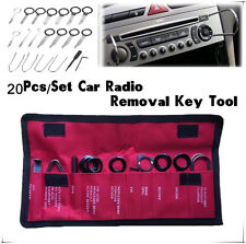 20Pc Car Radio Stereo CD Player Removal Key Remover Tool Kit Set Stainless steel