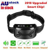 2018 Auto Anti Bark Collar Stop Dog Barking Waterproof Rechargeable Safe Collar