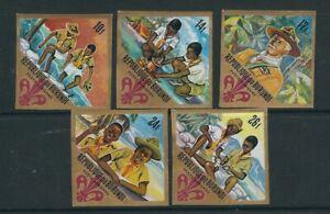 BURUNDI 1967 BOY SCOUTS, BADEN-POWELL etc (Sc C41-45) IMPERF VF MNH