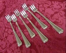 Set of 6 Cocktail Forks in  Stainless Steel Monet (glossy) by Gorham #2571