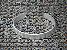 "Men's Gents Solid 925 Sterling Silver Open ""Matte Look"" Torque, Bangle, Bracelet"