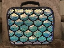 SOLD OUT Justice Mermaid Sequin Insulated Lunch Tote Box NEW WITH TAGS!!!