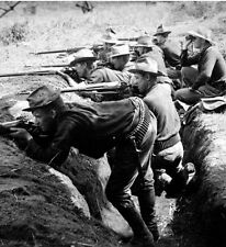 Photo. 1899. Philippine-American War. Americans Shooting From Trenches
