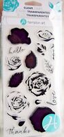 Roses Layering Flower Clear Acrylic Stamp Set by Hampton Art SC0754 NEW!2