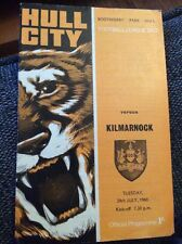 Hull City v Kilmarnock 1969 Friendly Programme