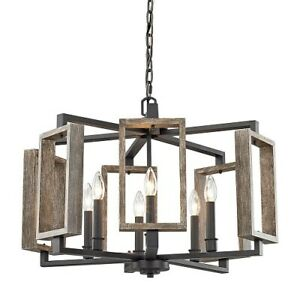 NEW Home Decorators Collection 6-Light Aged Bronze Chandelier