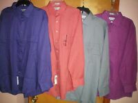 NWT NEW mens VAN HEUSEN l/s pin cord classic fit wrinkle free dress shirt $45