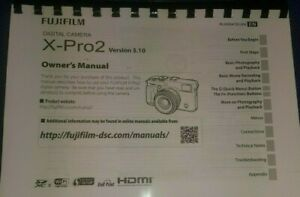 FUJIFILM X-PRO 2 PRINTED INSTRUCTION MANUAL USER GUIDE 192 PAGES A4