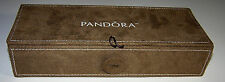 Authentic Pandora Limited Edition Tan Suede Jewelry Box Case Organizer
