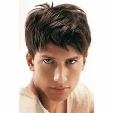 100% Real Hair! Masculine Short Toupee Fluffy Natural Straight Wig For Men