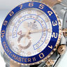 ROLEX YACHTMASTER ll 116681 44 mm STEEL 18K EVEROSE PINK GOLD NEW STYLE HANDS