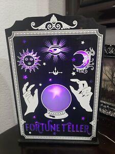 Halloween LED Lighted Palm Reading Crystal Ball, Fortune Teller NEW