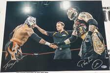 Pentagon Jr. & Rey Fenix Signed 16x20 Photo BAS COA Lucha Impact Pro Wrestling 3