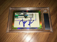 Jari Kurri 2014 Leaf Masterpiece Cut Signature signed autographed card 1/1 JSA