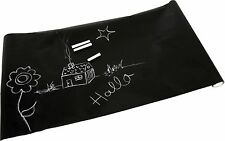 Tafelfolie Set mit Kreide Kreidetafel Tafel Folie schwarz selbstklebend Neu
