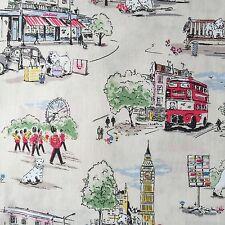 "Cath Kidston Half Yard Cotton Fabric 55""(140cm) Wide_Billie Goes To Town PF003"