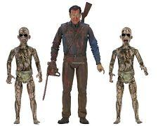"""Ash vs Evil Dead - 7"""" Scale Action Figure – Bloody Ash vs Demon Spawn 3 Pack - N"""