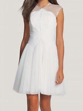 Ted Baker Trixxy Illusion Yoke Pleated Tulle Mesh Embellished Wedding Dress $650