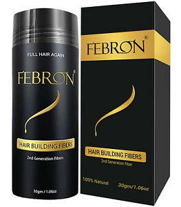 FEBRON Hair Building Fibers 30gm - For Thinning Hair Cover Bald spots Concealer