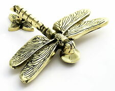 Porte laiton MASSIF LIBELLULE knocker, antique & vintage style dragon fly miches