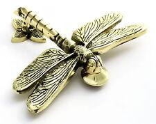 OTTONE massiccio LIBELLULA CON BATACCHIO -- Antico & Stile Vintage Dragon Fly KNOCKERS