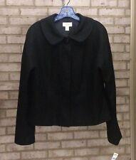 TALBOTS Black Sparkle Jacket sz 16 Career Cocktail NWT $229 Snap & Button Blazer