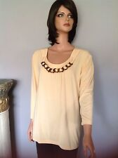 Chico's Tunic Women L Designer Fashion Lucite Necklace Micromodal Luxurious