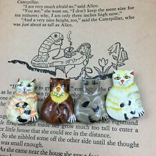 Nony New York Handpainted Cat Button Covers