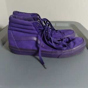 Vans SK8-Hi Off The Wall Men's Size 10 Shoes Purple High Top Athletic Sneakers