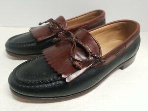 Allen Edmonds Nottingham Black Brown Leather Loafer Shoe Size 10D