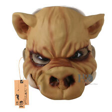 Horror Wild Boar Pig Latex Mask Fancy Dress Halloween Full Head Scary Props 1Pcs