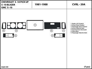 Fits Chevrolet S-10 / S-10 Blazer / GMC S-15 Dash Kit Trim Interior Dashboard