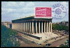 FRANCE MK 1969 EUROPA CEPT PARIS EGLISE MADELAINE CARTE MAXIMUM CARD MC CM h0971