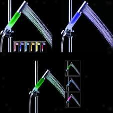 3-color LED del sensor de temperatura de la ducha Rociador de aniones