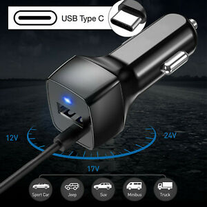 Fast USB-C Type-C Car Charger for Samsung S10 S10 Plus S8 S8+ S9 S9 Plus Note 9