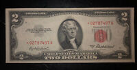 1953* - A RED SEAL UNCIRCULATED $2 Bill