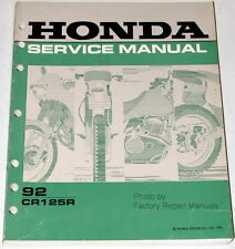 1992 HONDA CR125R Factory Service Manual CR125 CR 125R 125 Motorcyle Shop Repair