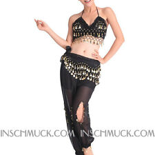 C89 Belly Dancing Costume with 2 Pieces Top Top & Pants Belly Dancing