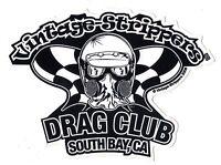 Drag Racing NHRA Sticker Decal Vintage Strippers Drag Club Nostalgia Racing
