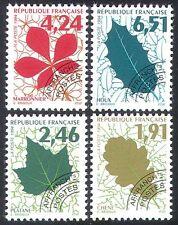 France 1994 Leaves/Trees/Plants/Nature/Pre-cancel 4v set (n40253)