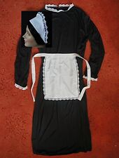 LARGE ADULTS VICTORIAN MAID COSTUME 50 in  DRESS * APRON SCARF HAT downton abbey