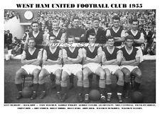WEST HAM UNITED F.C. TEAM PRINT 1955 (Season 1955-56)