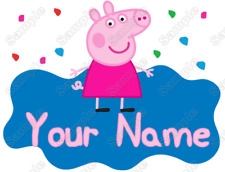 Peppa Pig Custom Name  Personalized  T Shirt Iron on Transfer #1