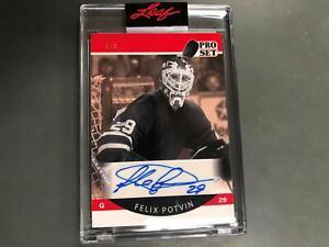 Felix Potvin  2021 Pro Set Memories Auto Autograph #1/5 Maple Leafs Bruins A25