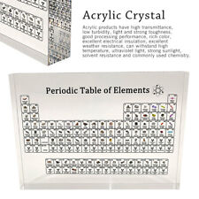 Periodic Table Display with Elements Acrylic Student Teacher Desk 17X12cm Gift