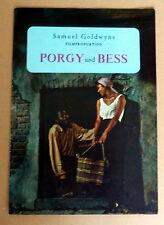 PORGY UND BESS * SOUVENIR-HEFT- DEUTSCH -SOUVENIR BOOK GERMAN
