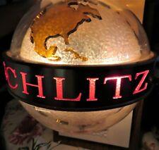 1968 SCHLITZ BEER GLOBE ANIMATED MOTION LIGHT UP WORLD GLOBE SIGN AUTHENTIC