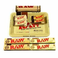 Authentic RAW King Size Combo Mini Tray +Hand Row Papers +Tips + Rolling Machine